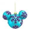 Disney Christmas Ornament - Mickey Ears Large - Purple Snowflakes