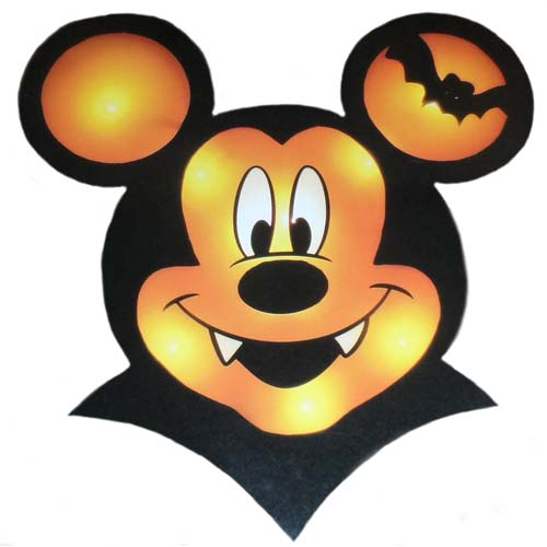Mickey Mouse Vampire Window