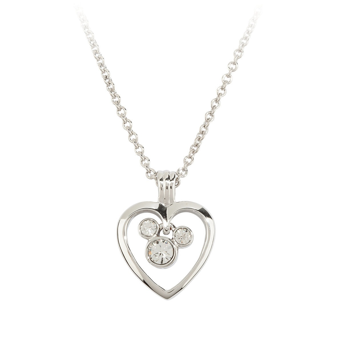 Disney Arribas Necklace - Mickey Mouse Icon in Heart