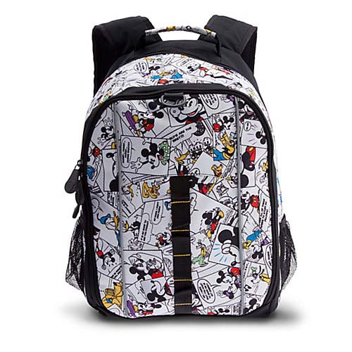 Disney Backpack Bag Mickey Mouse Comic Strip