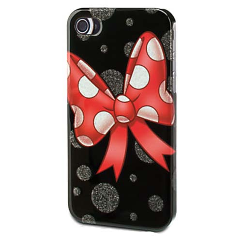 Disney Iphone 4s Case Minnie Mouse Bow Black Glossy