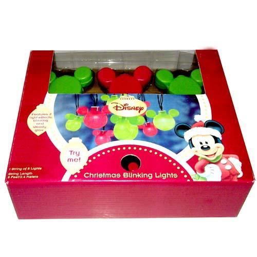 disney mickey ears christmas lights mickey mouse red and green - Mickey Mouse Christmas Lights