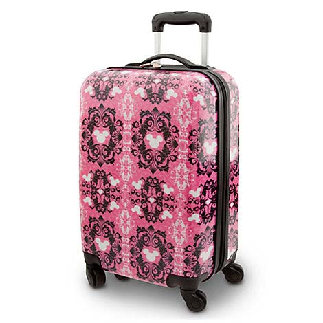 93132b10fe Disney Rolling Luggage - Pink Lace Filigree Mickey Mouse - 20