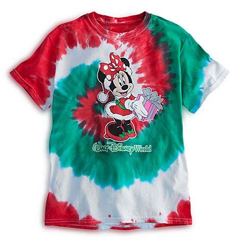 disney girls shirt santa minnie christmas tie dye - Christmas Shirts For Girls