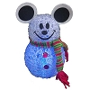 Disney Christmas Decoration - Snowman - Light Up Multi Color - Minnie