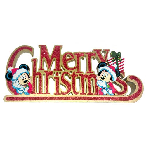 disney table top sign mickey minnie mouse merry christmas