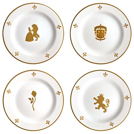 Disney Dessert Plates Beauty Amp The Beast Be Our Guest 8