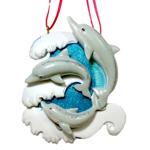 SeaWorld Christmas Ornament - Dolphin Family - Three Dolphins