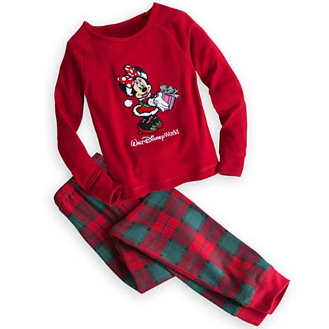 disney child girls pajamas christmas minnie mouse