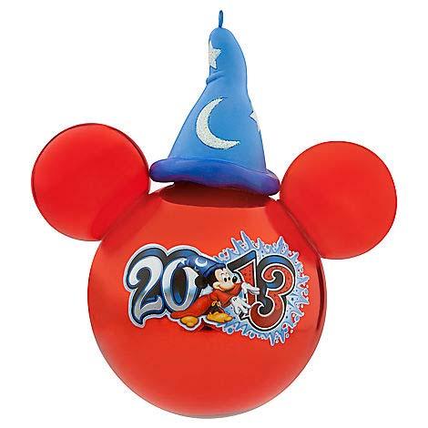 disney christmas ornament 2013 sorcerer mickey mouse hat on ball - Mickey Mouse Ornaments Christmas