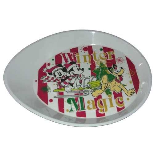 Disney Plastic Plate - Mickey and Minnie Mouse - Winter Magic - Snack  sc 1 st  Your WDW Store & Your WDW Store - Disney Plastic Plate - Mickey and Minnie Mouse ...