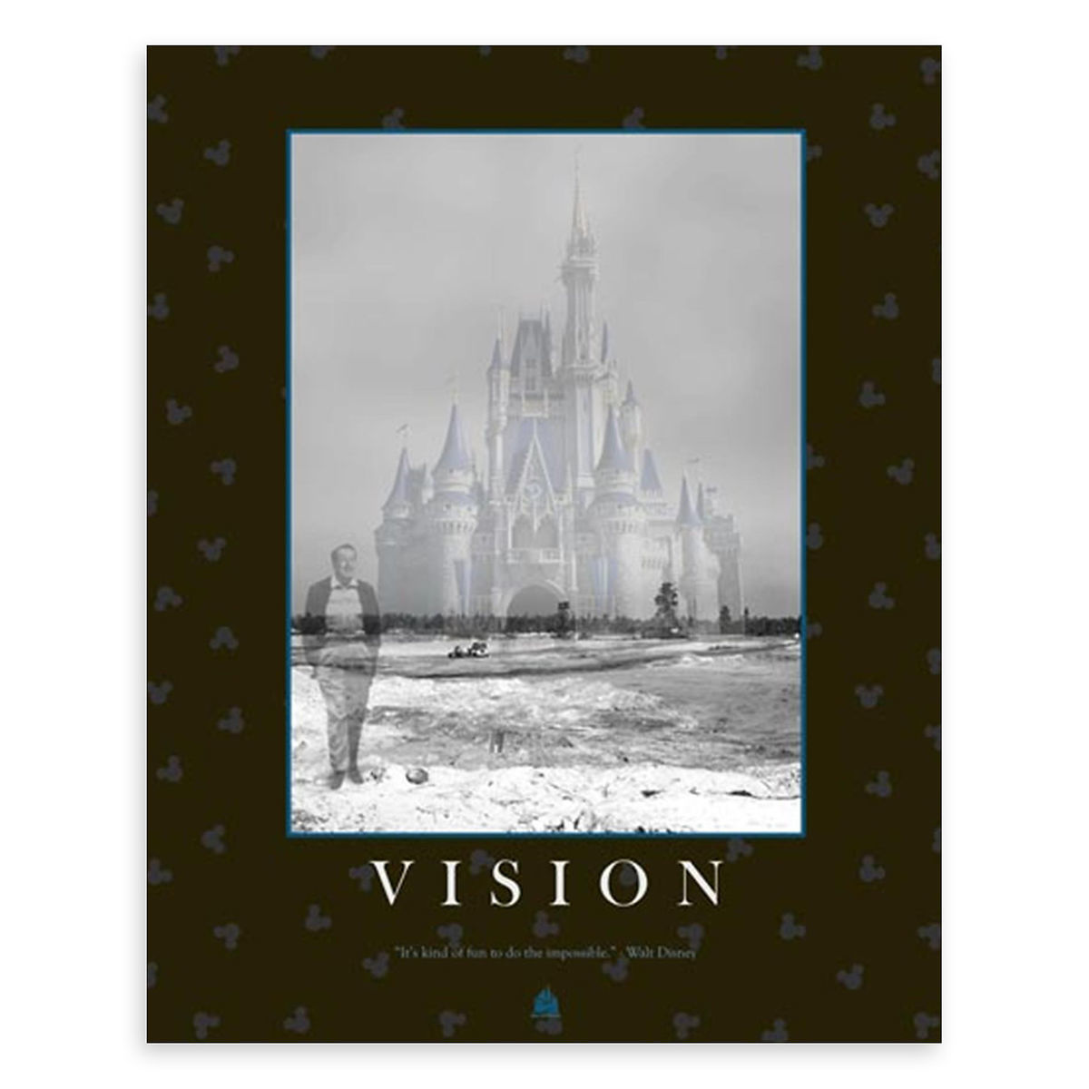 Disney Giclee Canvas - Walt Disney Quote - ''Vision''