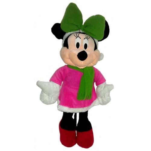 Christmas Minnie Mouse Plush.Disney Plush Porch Greeter Minnie 26 Inches Christmas Minnie