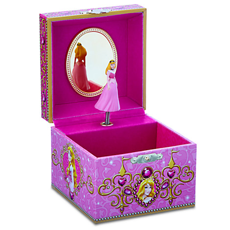 Your WDW Store Disney Trinket Box Aurora Musical Jewelry Box