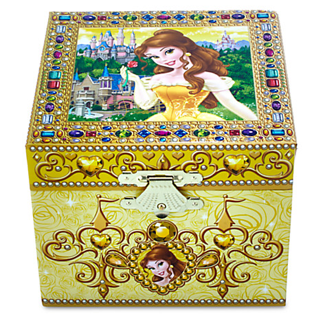 Your WDW Store Disney Trinket Box Belle Musical Jewelry Box