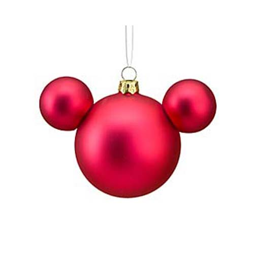 disney christmas ornament mickey mouse ears ball fuchsia satin - Mickey Mouse Christmas Decorations