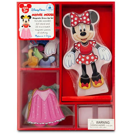 Disney Magnetic Dress Up Set Minnie Mouse Wooden
