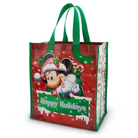 Disney Reusable Shopping Bag - Happy Holidays - Christmas Gift Bag