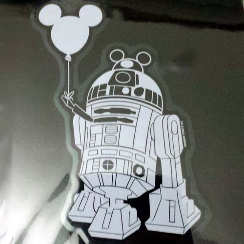27d30d5025a Disney Auto Window Decal - Star Wars R2-D2 Astromech Droid