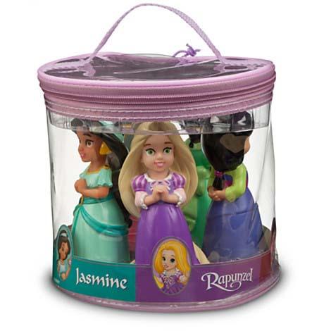Disney Bath Toy Set Princess And Fairies Squeeze Toy Set
