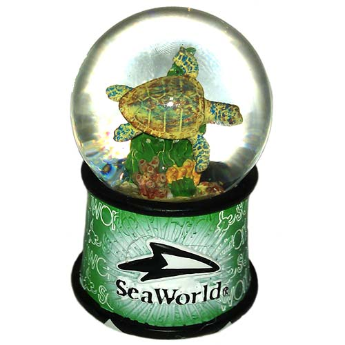 Sea World Snow Globe Sea Turtle Banner