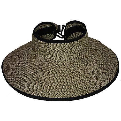 Disney World Sun Visor Hat - Roll-Up - Tweed Pattern - BLACK TRIM fc26401021d