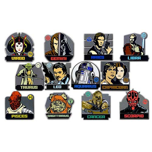 Disney Mystery Pin Set - Star Wars Zodiac - COMPLETE 24 Pins