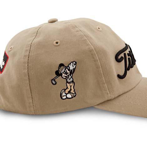 Disney Baseball Cap Hat - Mickey Mouse Titleist Golf Cap Adult - Tan 61aaec2acb3