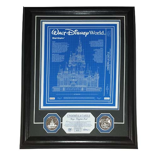 Your wdw store disney framed etched glass panel cinderella disney framed etched glass panel cinderella castle blueprint le malvernweather Images
