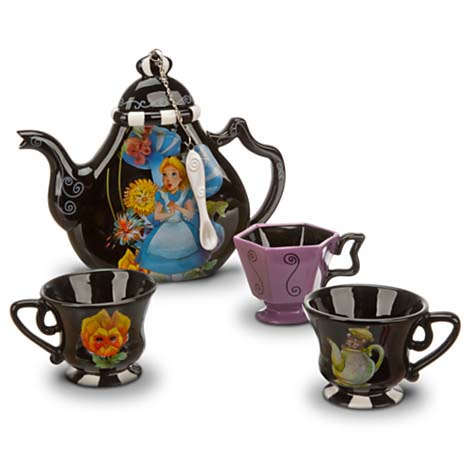your wdw store disney wind chimes alice in wonderland teapot and cups. Black Bedroom Furniture Sets. Home Design Ideas