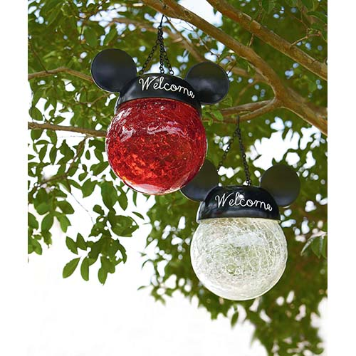 Your WDW Store - Disney Hanging Solar Light - Mickey Mouse Ears - Red