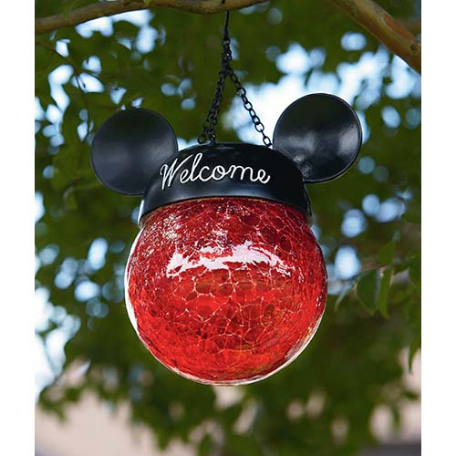 Disney Hanging Solar Light Mickey Mouse Ears Red