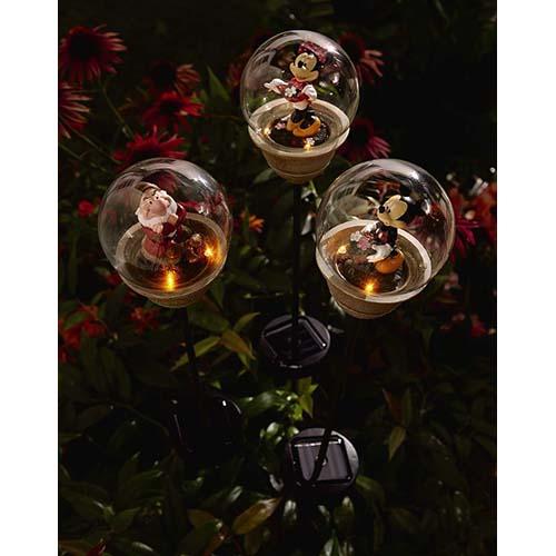 disney solar garden stake flower garden mickey mouse - Solar Garden Christmas Decorations