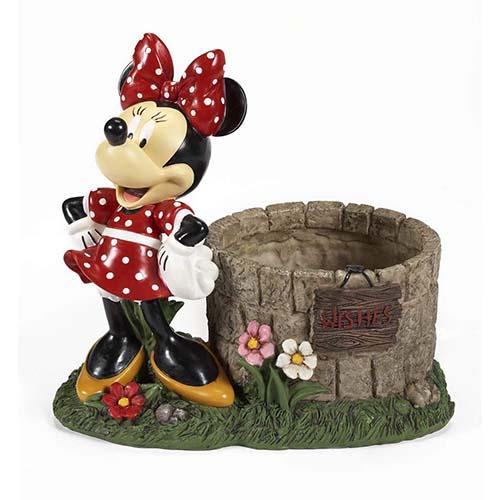 Disney Garden Flower Planter Minnie Mouse Wishing Well