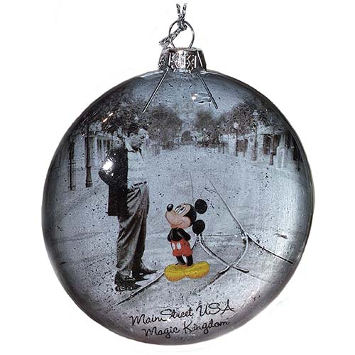 Disney Christmas Ornament Mainstreet Walt And Mickey Mouse