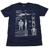Disney Adult Shirt - Star Wars Weekends 2013 - SpeederBike Blueprint