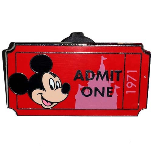Disney Mystery Pin - Admit One Ticket Pass - Mickey Mouse