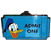 Disney Mystery Pin - Admit One Ticket Pass - Donald Duck