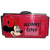 Disney Mystery Pin - Admit One Ticket Pass - Minnie Mouse
