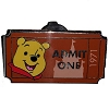 Disney Mystery Pin - Admit One Ticket Pass - Winnie The Pooh