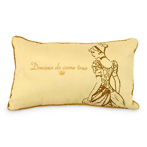 Ideal Your WDW Store - Disney Throw Pillow - Gold Sequin Cinderella  LY52
