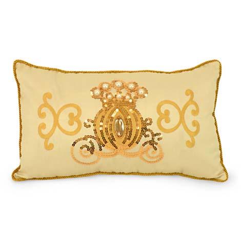 disney throw pillow gold sequin cinderella coach accent pillow