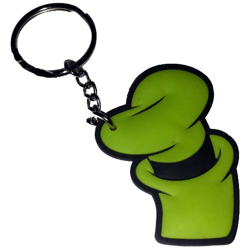 Disney Key Chain Ring Character Icons Goofy Green Hat