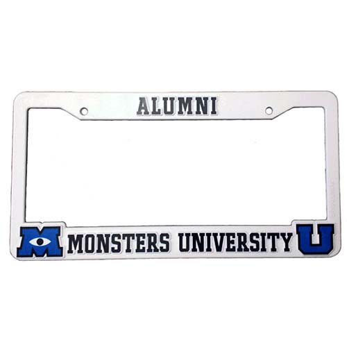 Disney License Plate Frame - Monsters University - Alumni