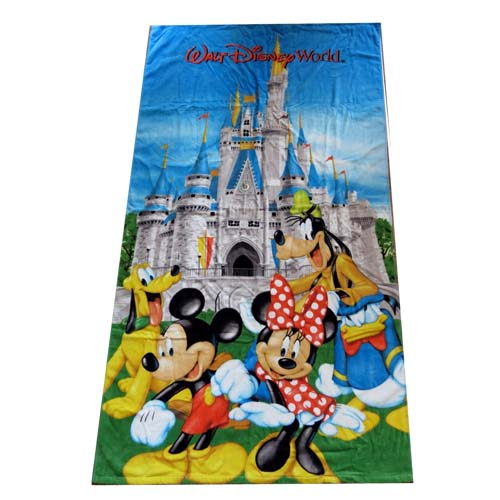 Disney Beach Towel Mickey And Friends At The Castle