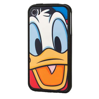 Disney Iphone 4 Case Donald Duck Face Black