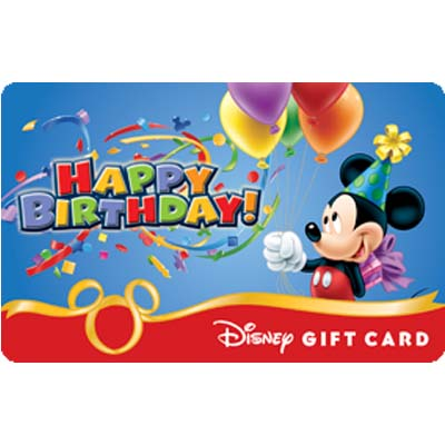 Disney Collectible Gift Card Happy Birthday From Mickey