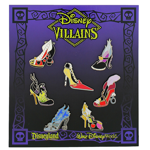 bd8427b8f7e Disney 7 Pin Booster Pin Set - Villains Shoes Mini Pin Set