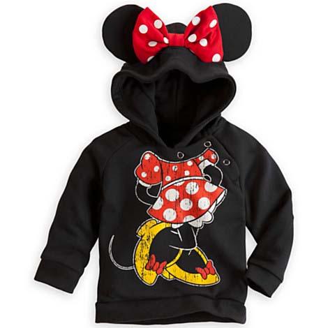 Disney Infant Hoodie Minnie Mouse Ear Hoodie For Baby