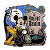 Disney Haunted Mansion Pin - Caretaker Mickey Pluto and Ghosts